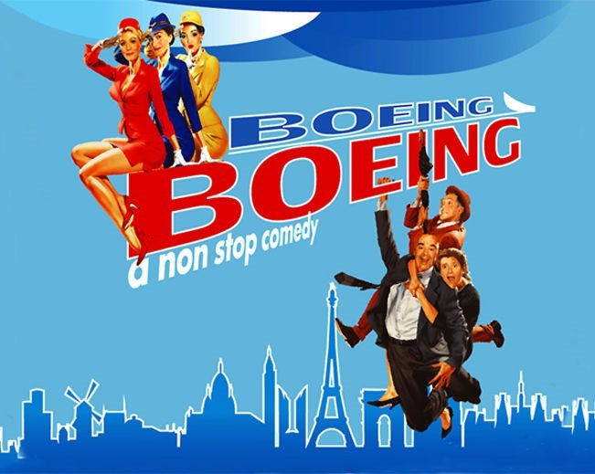 Image with text: Boeing, Boeing a non stop musical